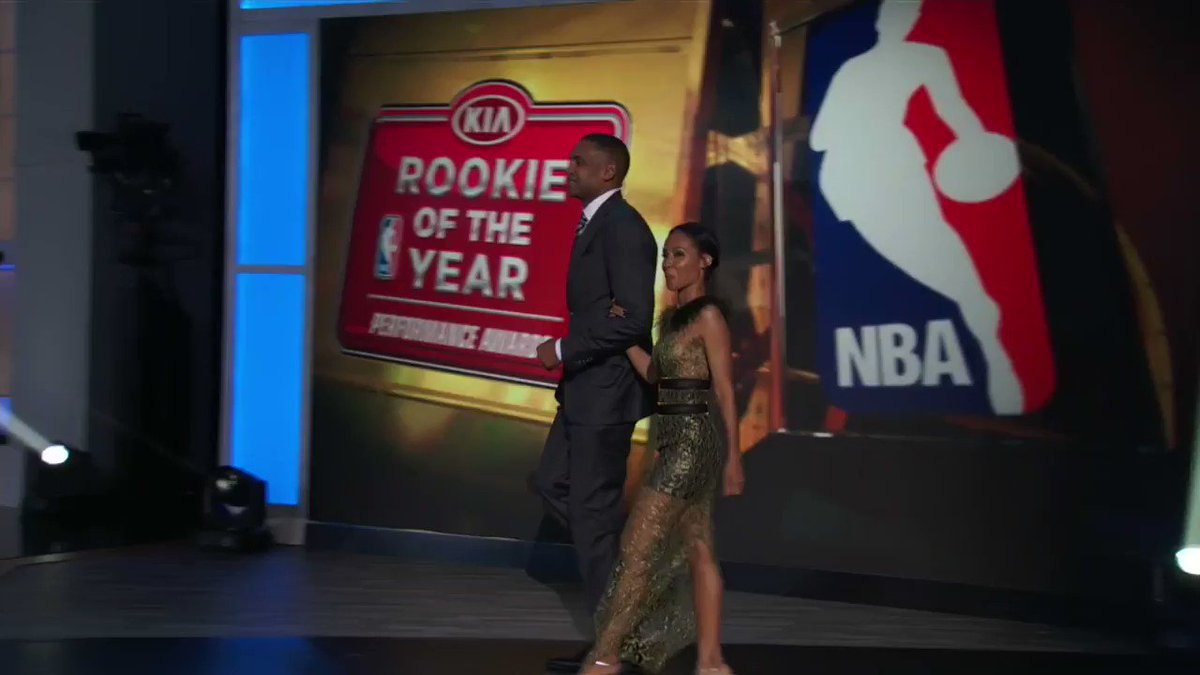 Malcolm Brogdon (@Bucks) takes home the 2017 @Kia #NBA Rookie of the Y...