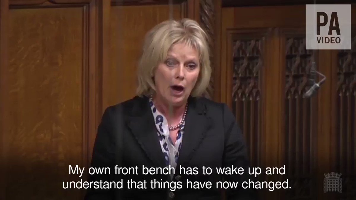 Tory MP @Anna_Soubry tears into Theresa May over her delinquent approach to Brexit https://t.co/3p1T89GMCx