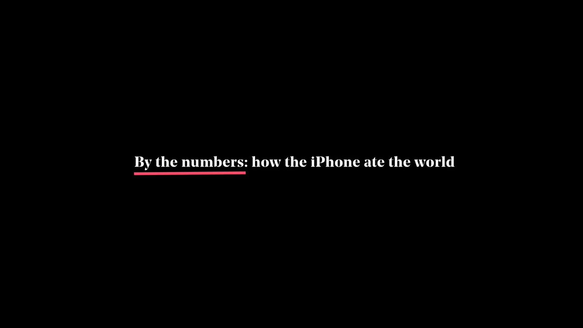 📱 The iPhone is 10 today! This is how it ate the world https://t.co/BF...
