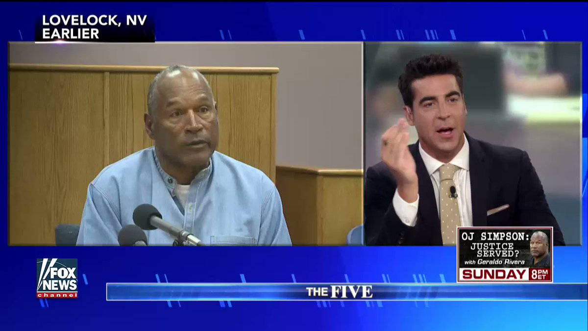".@jessebwatters on #OJSimpson: ""I think O.J. is a drug and America nee..."