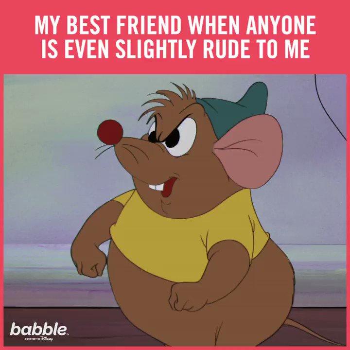 Bibbidi-bobbidi-best friend. (😂: @BabbleEditors)