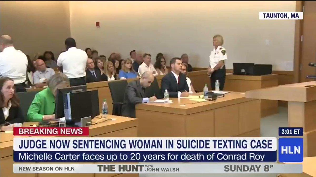 hln on twitter breaking news michelle carter sentenced to 2 5