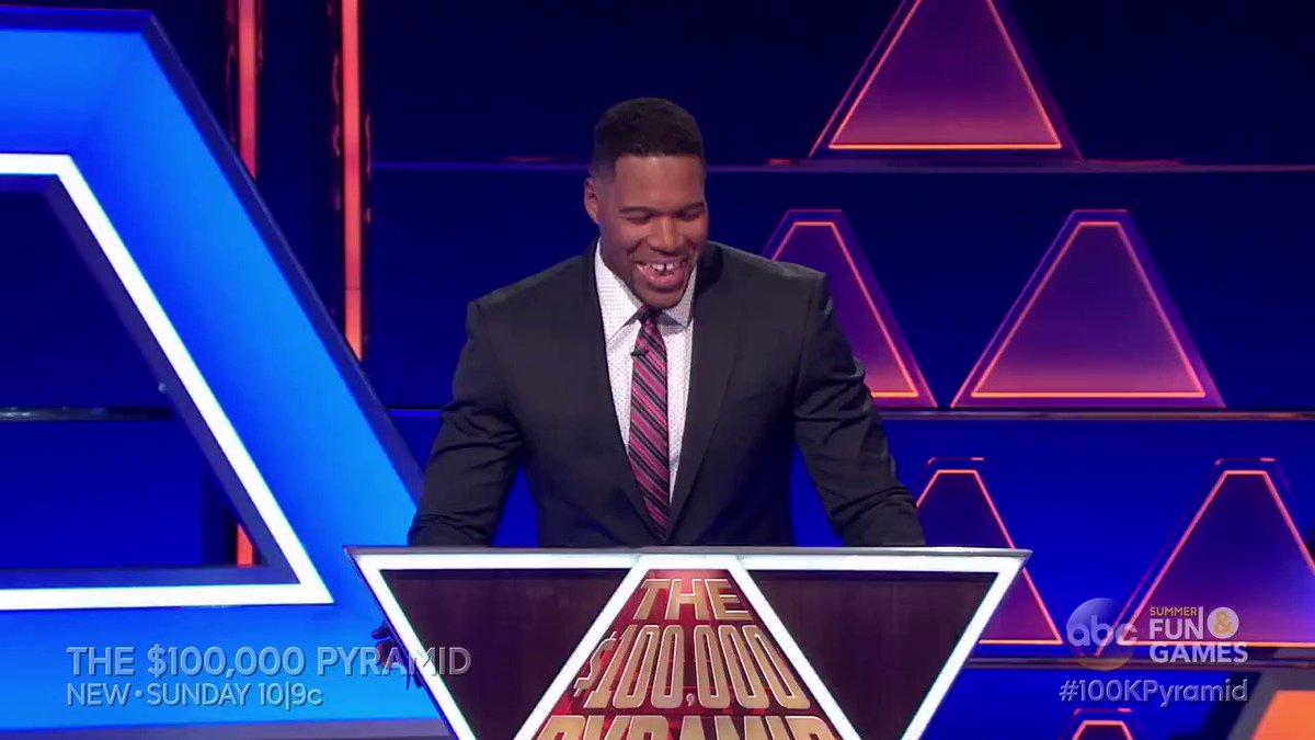 WATCH: EXCLUSIVE sneak peek at this Sunday's all new @PyramidABC hosted by @michaelstrahan! #100kPyramid https://t.co/LNefSwPlVK