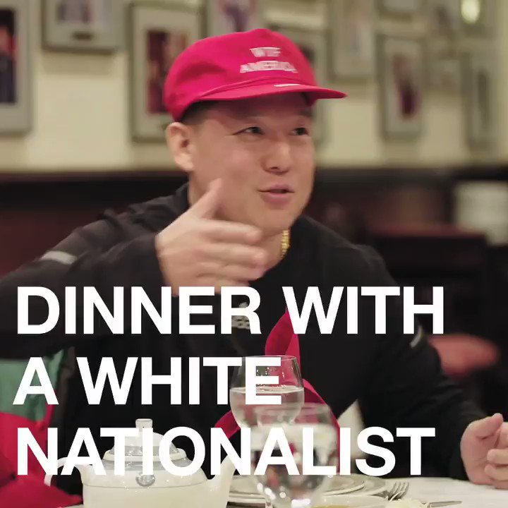 """Why are you so worried about the white dispossession of America?""   Dinner with a white nationalist, as seen on HUANG'S WORLD."