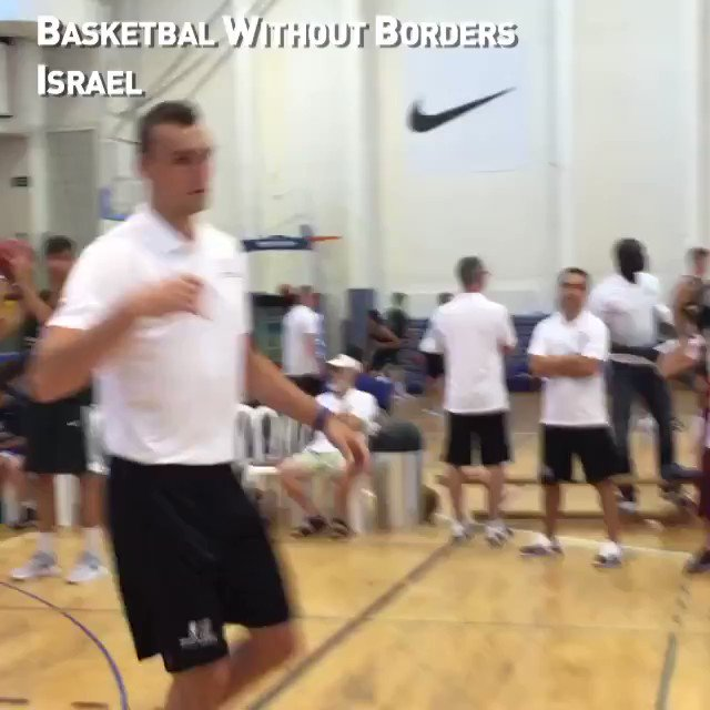 The @LAClippers' @dekker and @Raptors' @npowell2404 assess the talent at #BWBEurope in Israel!