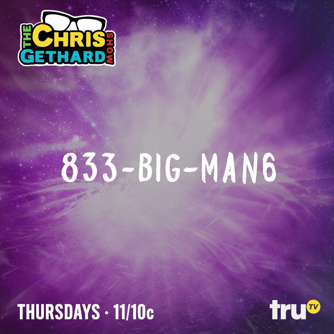 We're going LIVE at 11/10c on @truTV! CALL US! #ChrisGethardShow https...
