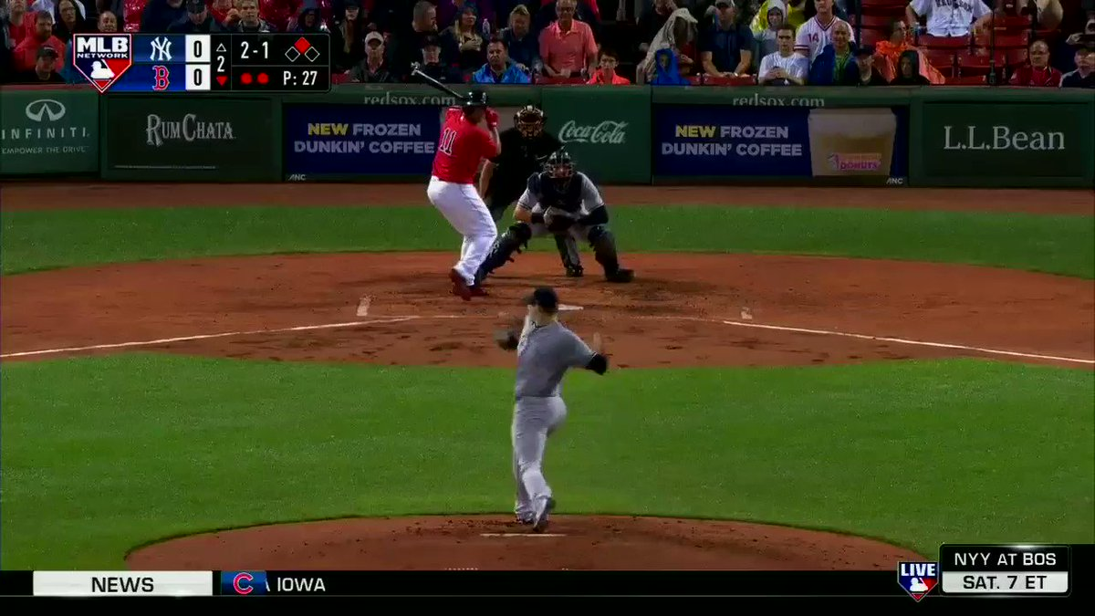.@Rafael_Devers hits one into the Monster Seats to give the @RedSox an...
