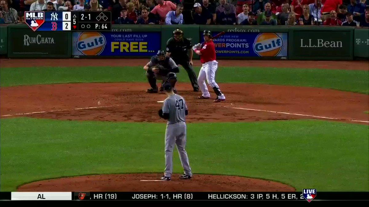 Christian Vazquez homers to make it 3-0, @RedSox. #MLBNShowcase https:...