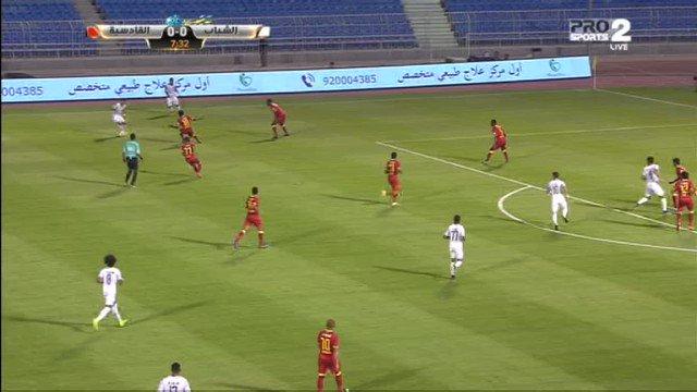 فيديو.. هدف الشباب الاول في مرمى القادسية عن طريق 'خالد كعبي' #الشباب_...