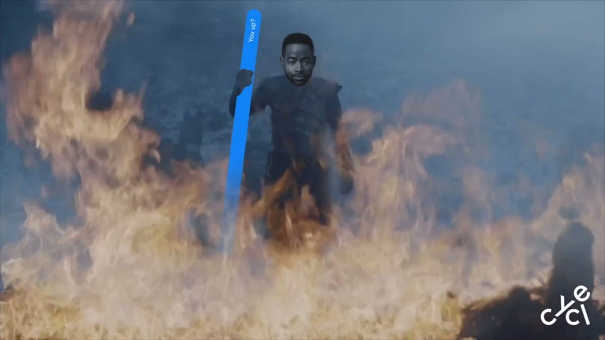 Night King but if he was Lawrence sitting outside Issa's crib. #Throne...
