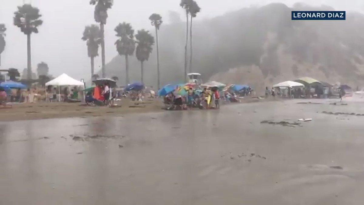 WATCH: Sudden storm burst sends umbrellas, chairs flying at Santa Barbara beach https://t.co/23Q1Co82da https://t.co/DG5efCxqAK