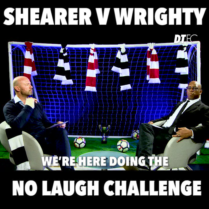 Who's cracking the best dad jokes - @alanshearer or @IanWright0?