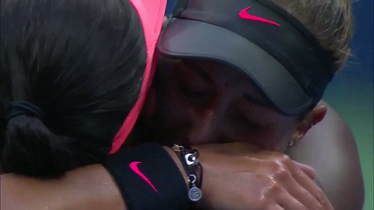 Just a beautiful moment at the net:  @SloaneStephens and @Madison_Keys  #USOpen https://t.co/uRbDKCjRW9