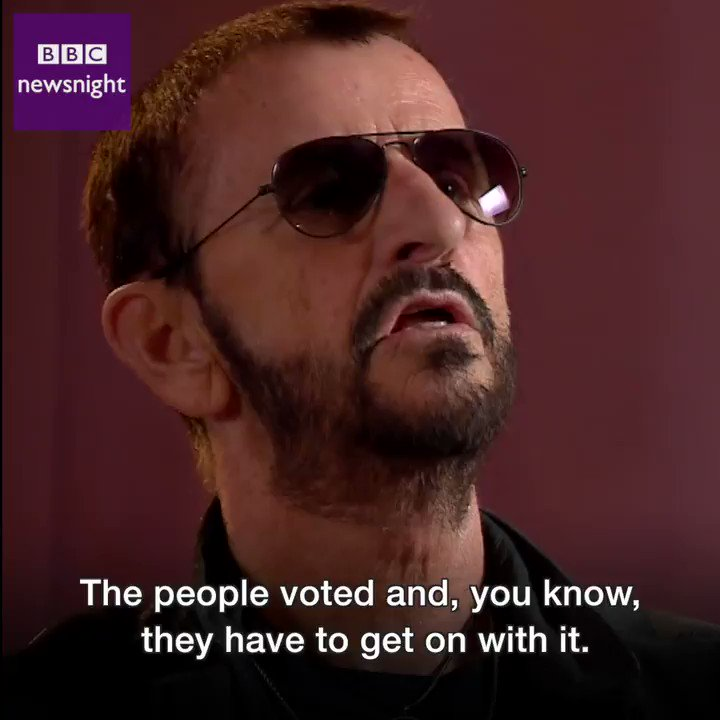 """To be in control of your own country is a good move"" - Ringo Starr tells #newsnight it's time to get on with Brexit"