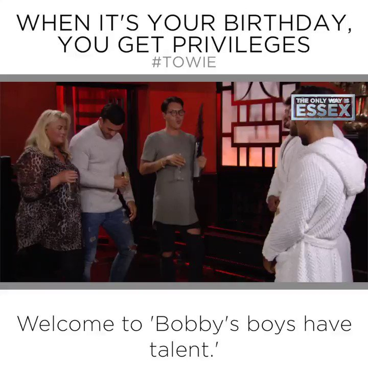 Hey.. It's your birthday, you can do what you want @BobbyCNorris  😉😜  #TOWIE https://t.co/Z8rFrkfZZZ