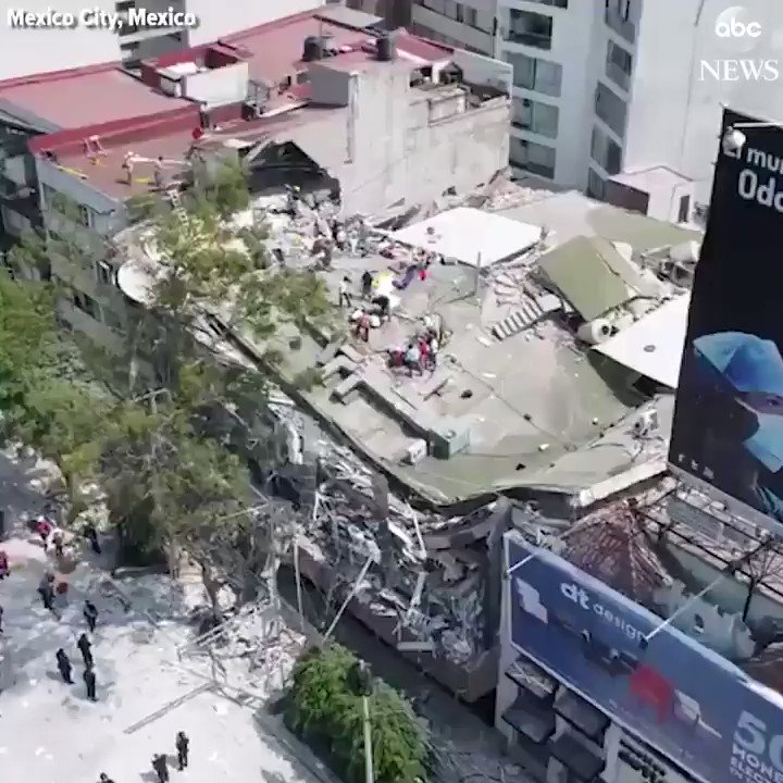 Drone footage shows destruction in Mexico City caused by 7.1-magnitude earthquake https://t.co/zoZVlwvf43 https://t.co/7IBSn4D5yN