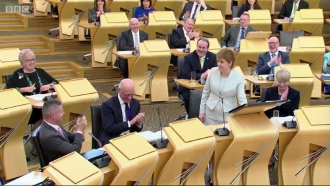 🎥 @NicolaSturgeon at #FMQs: 'There is a gulf as wide as the Clyde betw...
