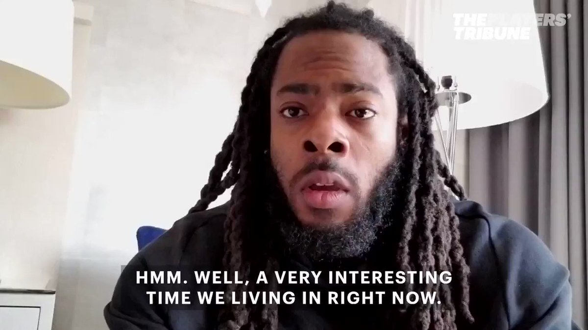 Richard Sherman wants to address how the President is dividing the co...