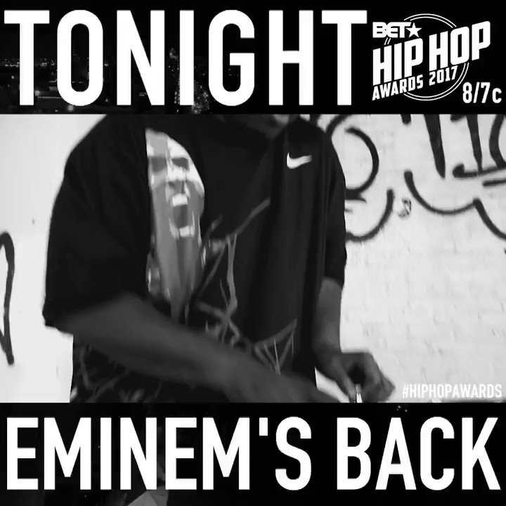 RT @ShadyRecords: Yep, he'll be back.  Tune into the @BET Hip Hop Awards tonight at 8pm! https://t.co/2BsH99vtUw