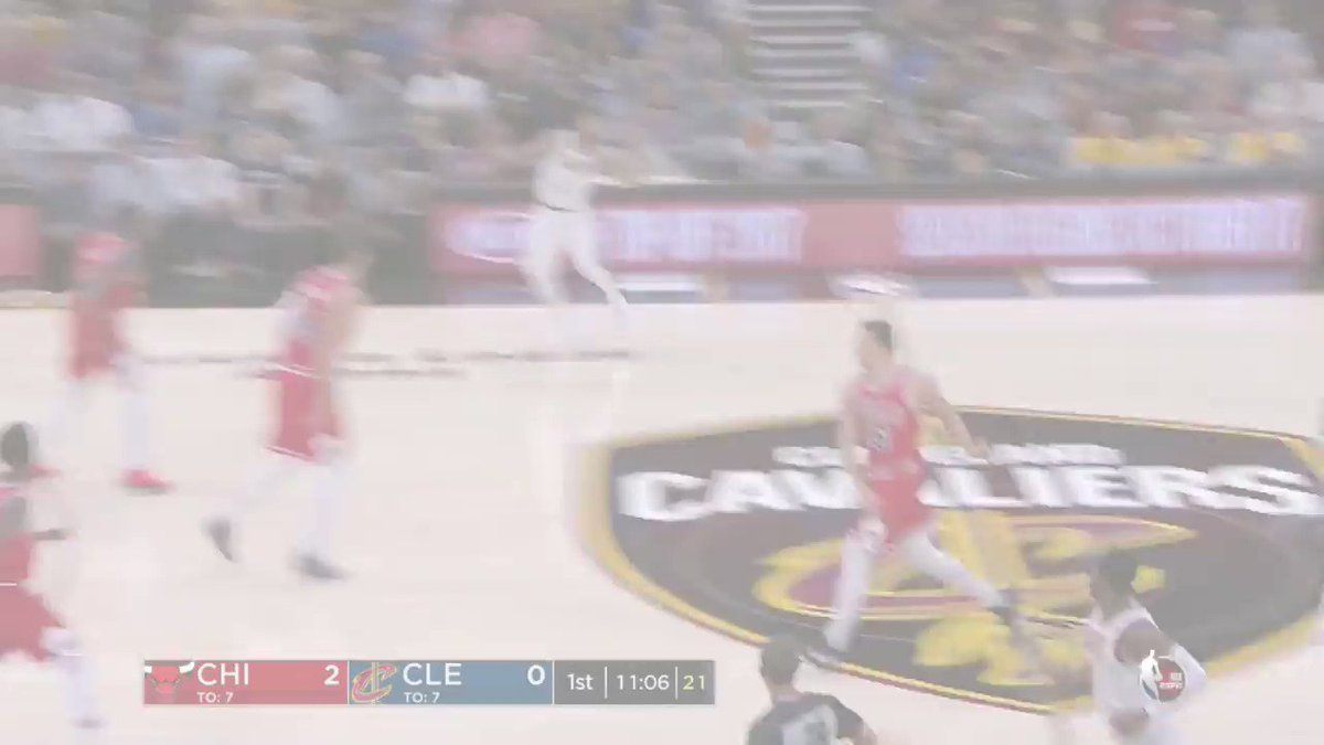 LeBron, D.Wade and D.Rose hit the floor together for the @Cavs. #NBAPreseason https://t.co/86zFEXWX7N