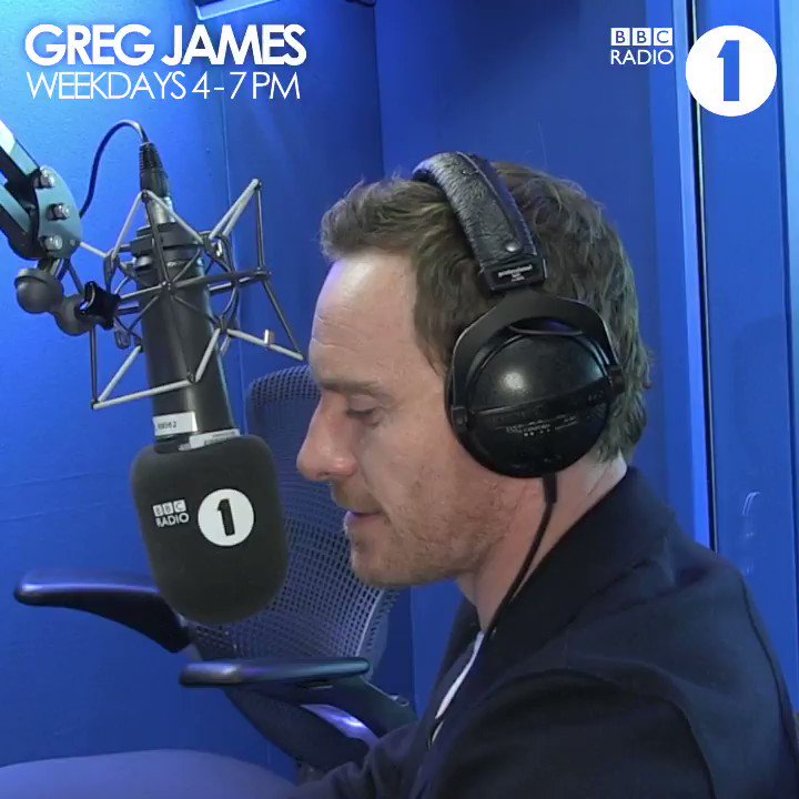 Michael Fassbender & @GregJames make nursery rhymes scary. 👻 Or funny, either way. 😀 via @BBCR1. #FridayThe13th  https://t.co/yM5GwcdAaN