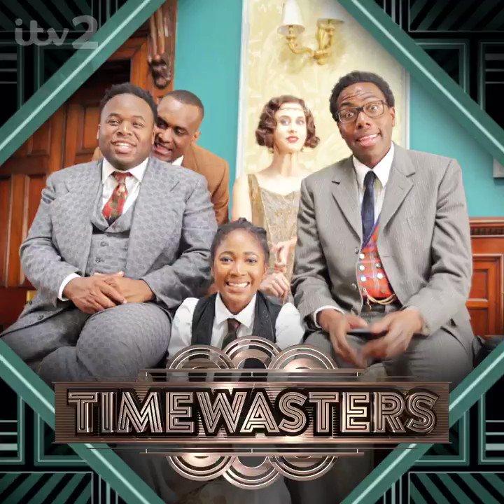 Wheretheweekendgohuh!? Wanna go back in time? Spanking new comedy #Timewasters. Tonight 10pm @itv2 #MondayMotivation https://t.co/0AeQrtvjZG