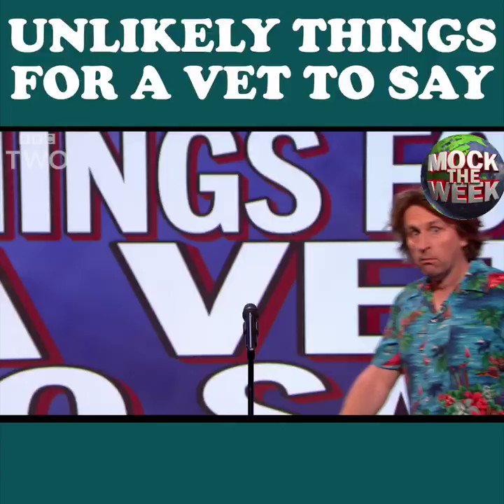 If your vet says any of these, you should probably consider finding a new one. 😹 @MockTheWeek https://t.co/lADxHEM4js