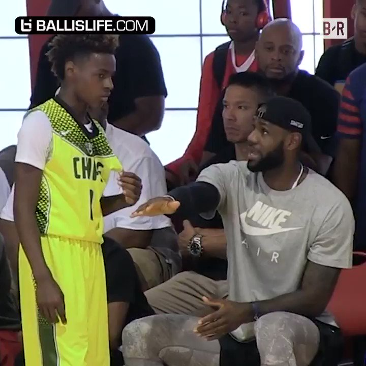 LeBron James Jr. is looking for his own crown (h/t @ballislife) https:...