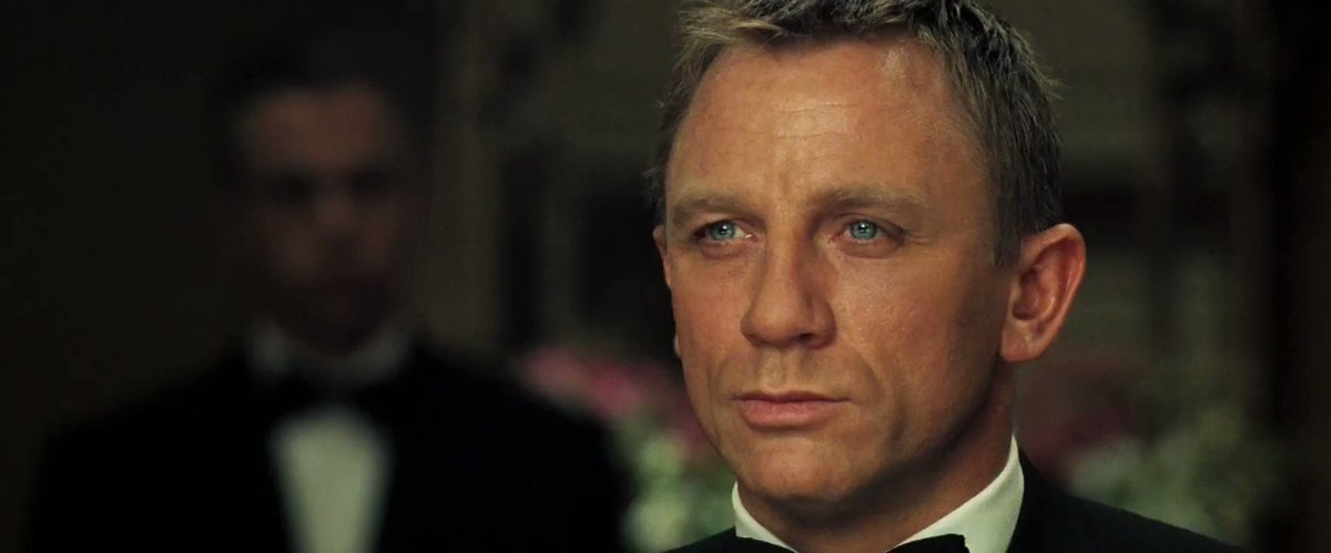 In CASINO ROYALE (2006), Bond provides an object lesson in poker. #Wed...
