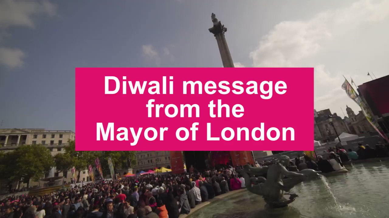 Happy #Diwali and a prosperous New Year to everyone celebrating in London and around the world. https://t.co/4EDSWhsVVx