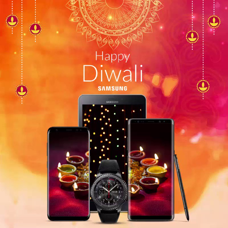 Warm wishes on the festival of lights from the Samsung family. #HappyDiwali