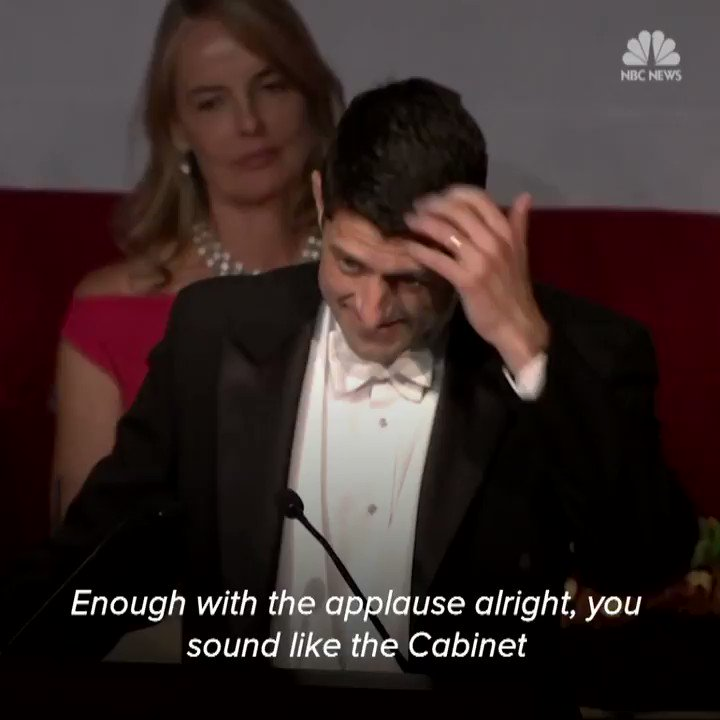 His Sarah Palin joke was not half bad. Speaker Paul Ryan roasts Presid...
