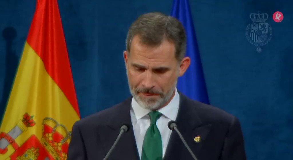 Apoyo cerrado de Europa a la unidad de España. Los líderes de la UE y el Rey han sido contundentes contra el desafío independentista. #EXN https://t.co/9G3AC6WcfW