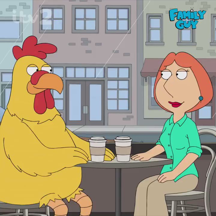 Ready for some hot chick on chicken action? 🙎🐔😂 Spanking NEW series of #FamilyGuy. Starts tonight 9pm @itv2 https://t.co/6sVXlvvUy1