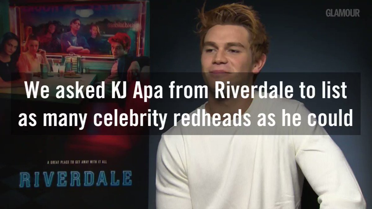 Watch what happened when we interviewed @KJ_Apa from #Riverdale about other famous redheads...