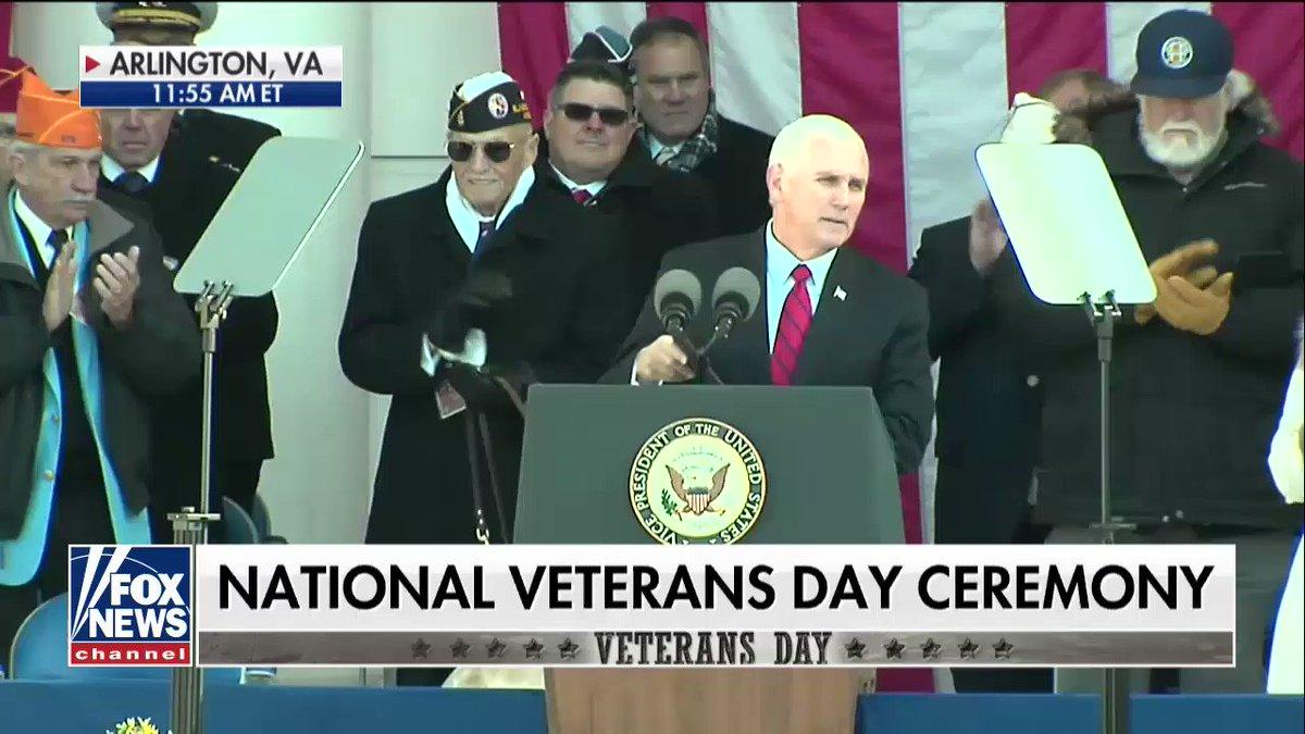 WATCH: @VP's full #VeteransDay remarks at Arlington - Part 1. #ProudAmerican https://t.co/264sKWPr84 https://t.co/6sAicjCnmF