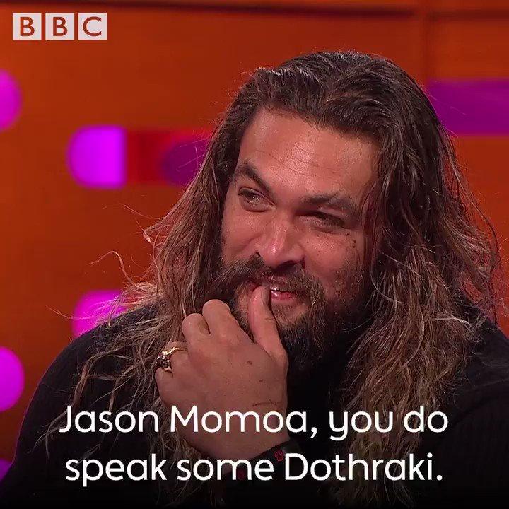 Happy birthday Jason Momoa!  We wonder how you say that in Dothraki?