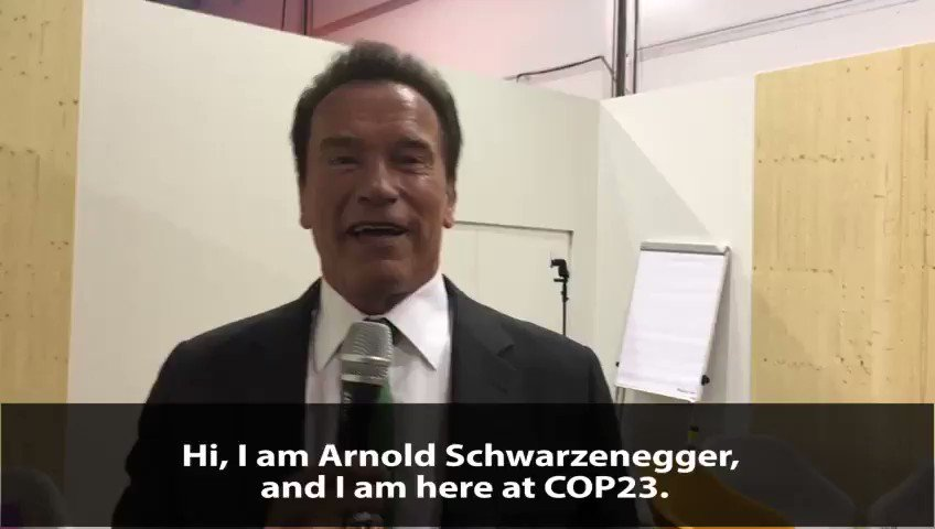 """""""Let's do it together & then we can be successful."""" - At #COP23 @Schwarzenegger encourages everyone to take climate action. Ideas: https://t.co/K0aDMQXinD"""