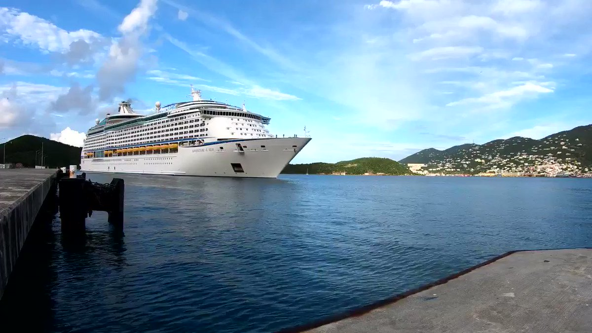 RT @RoyalCaribbean: #TBT to pulling into St. Thomas last week. https://t.co/8JGltQXCKj
