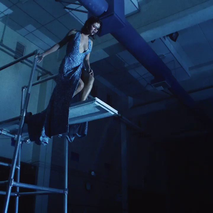 .@SelenaGomez takes to the high dive wit...