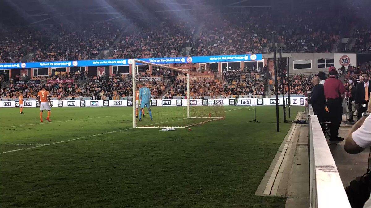A dream start in Houston!  1-0 | #HOUvSE...