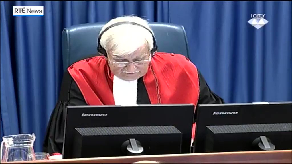 The moment former Bosnian Serb military leader Ratko Mladic is found guilty of genocide and crimes against humanity. https://t.co/qAE8aFo1Bm