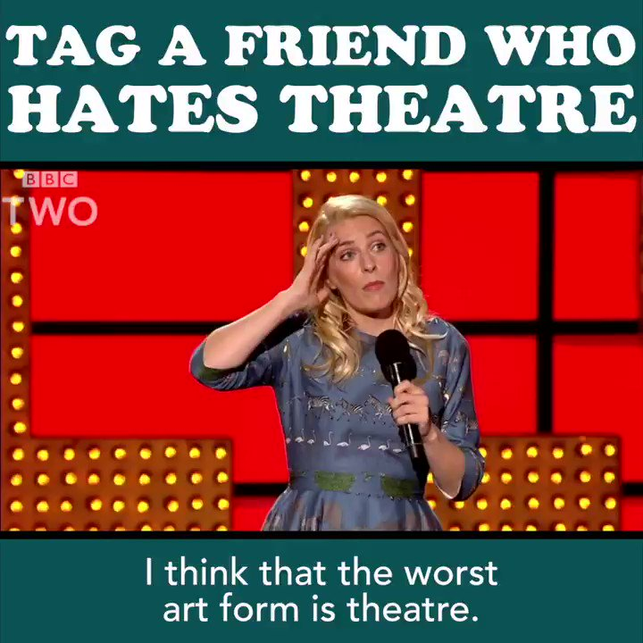 .@SaraPascoe's interest in theatre soon stalls... 😝 https://t.co/tOeYoDDqmC