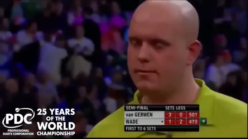 Of course, the next nine-darter that we saw at the Alexandra Palace was one we all remember...  Take to the stage, Michael van Gerwen... https://t.co/0bcyi9SqLm