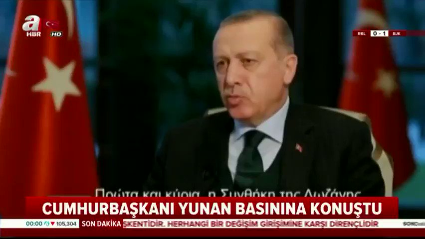 Cumhurbaşkanı @RT_Erdogan:   'Lozan antl...