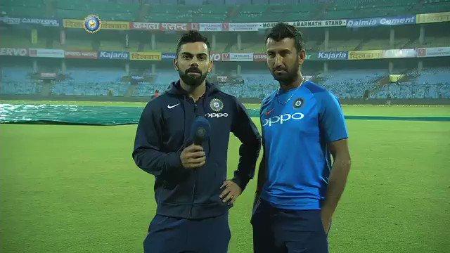 #TeamIndia Captain @imVkohli and batsman...