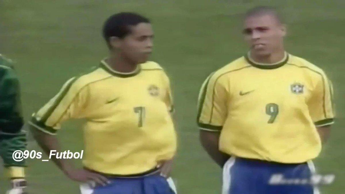 Ronaldinho and Ronaldo vs Argentina, 1999.
