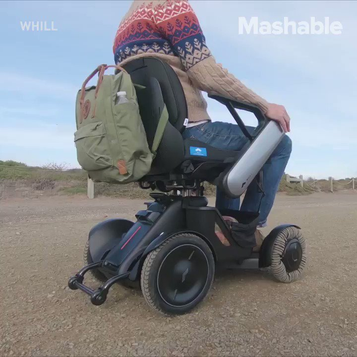 This electric wheelchair was made for any terrain
