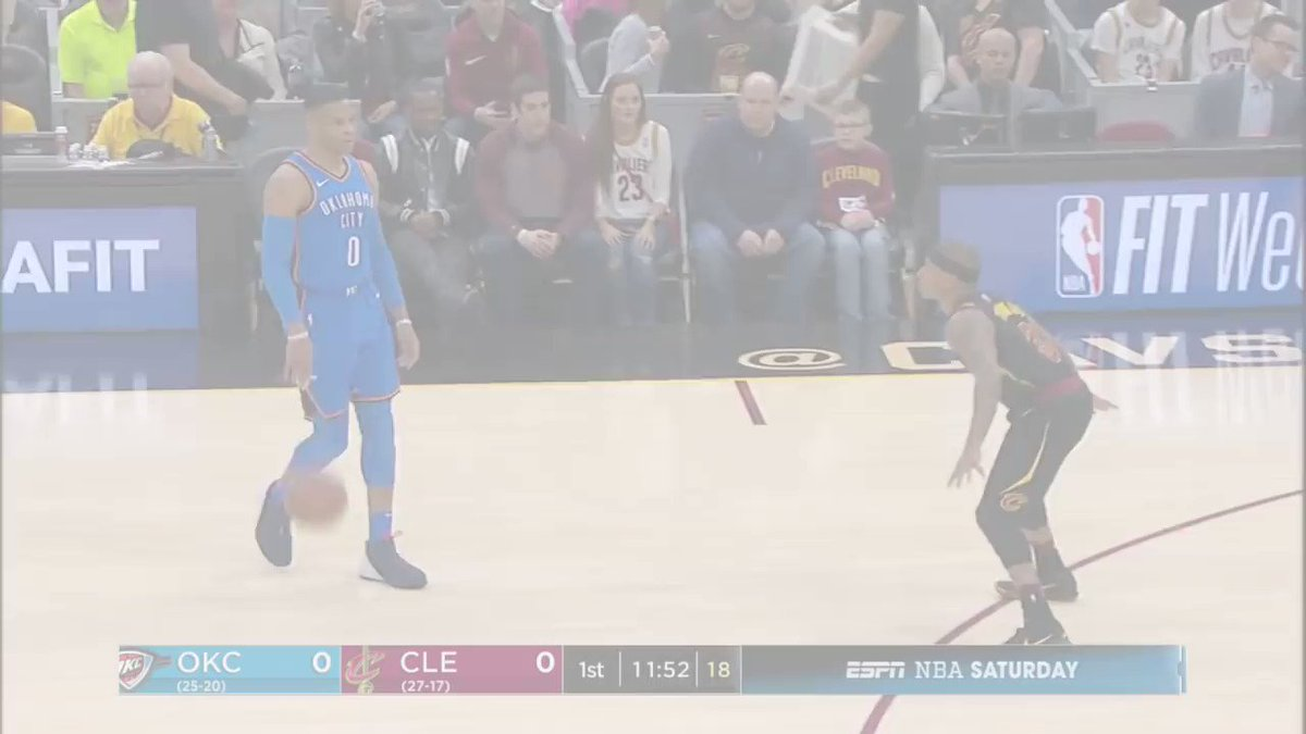 Russell Westbrook puts on a passing clinic with 20 assists! #ThunderUp https://t.co/NyD7E78W3t