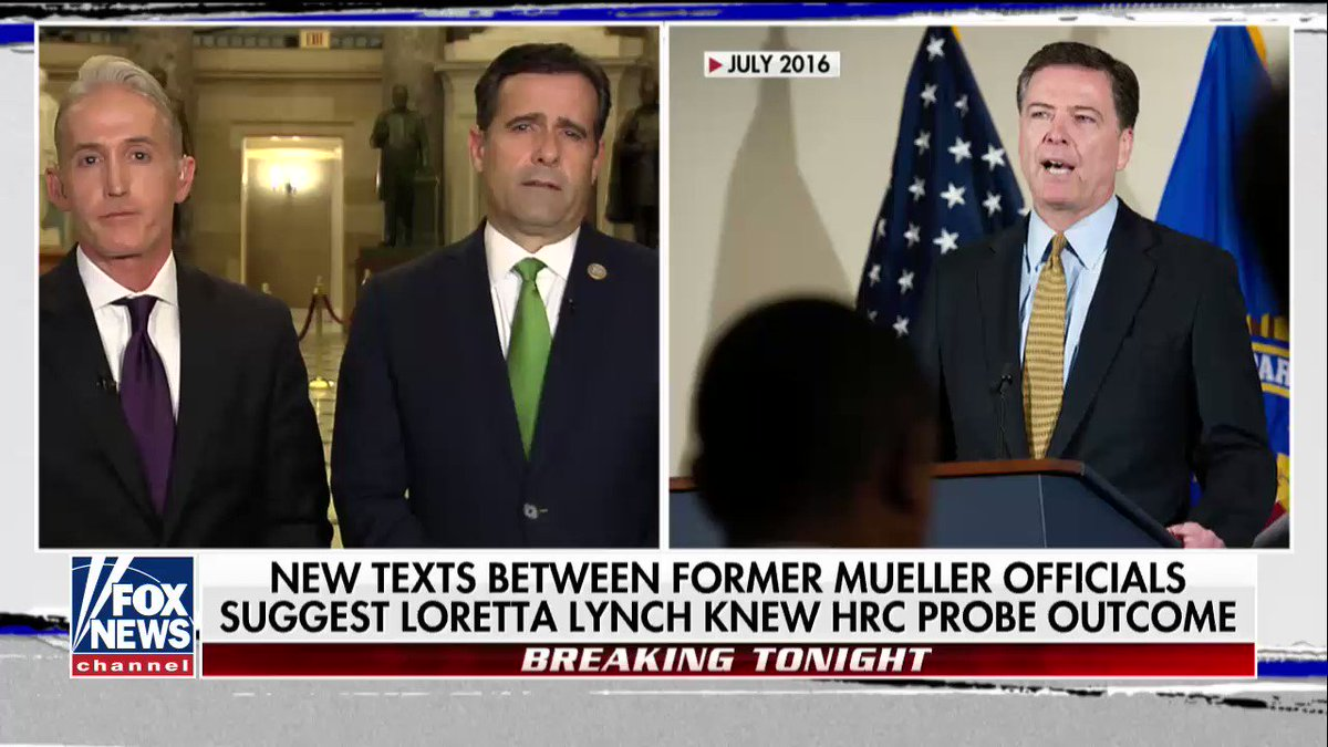 """.@TGowdySC on 50,000+ new @FBI texts, possible 2nd special counsel appointed to investigate Mueller probe: """"We saw more manifest bias against @POTUS all the way through the election into the transition."""" https://t.co/jTCsiBqaVi"""